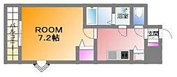 クラウンハイム北心斎橋フラワーコート[2階]の間取り