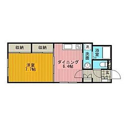 TK松並[4階]の間取り