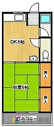 西村アパート鶴田[105号室]の間取り