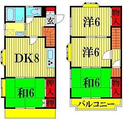 [テラスハウス] 埼玉県越谷市東越谷6丁目 の賃貸【/】の間取り