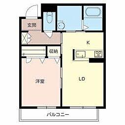 ソラーナ堺東[2階]の間取り