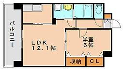 スカイシャトレ柚須[6階]の間取り