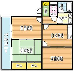 ファミールタカハシ第1ビル[401号室]の間取り