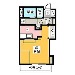CASA板屋[2階]の間取り