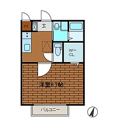 モナリエ文京[1階]の間取り