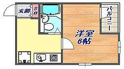 ソワールド六甲[302号室]の間取り