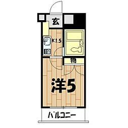 パレ・ドール鶴ケ峰[415号室]の間取り