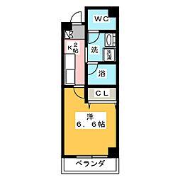 アムール杉栄[4階]の間取り