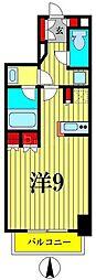 ルフォンプログレ菊川 5階ワンルームの間取り