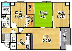 SOSIA忍ヶ丘[1階]の間取り