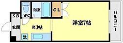 アヴァンセクール江坂[4階]の間取り