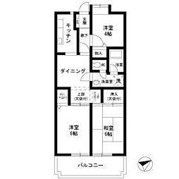 ホーユウパレス戸塚[4階]の間取り