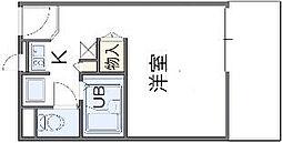 南海線 春木駅 徒歩8分の賃貸アパート 1階1Kの間取り