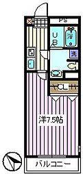 埼玉県さいたま市桜区新開1丁目の賃貸マンションの間取り