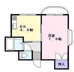 ファミール千本杉[402号室]の間取り
