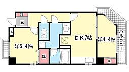 Kobe十一屋[1-A号室]の間取り