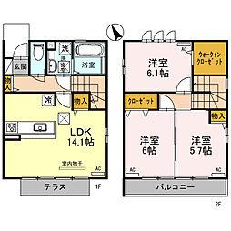 仮称 D-room大美野タウン 3LDKの間取り