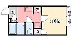 ハピネス甲子園[103号室]の間取り