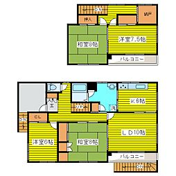 [一戸建] 北海道札幌市東区本町一条1丁目 の賃貸【/】の間取り
