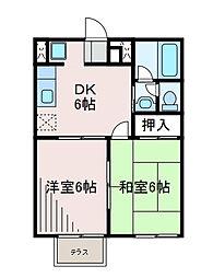 ウィング・テン[2階]の間取り
