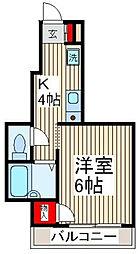 ビュー西青木[1階]の間取り
