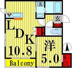 東京都足立区西新井6丁目の賃貸マンションの間取り