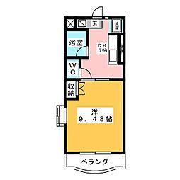 マンションフレサ[3階]の間取り