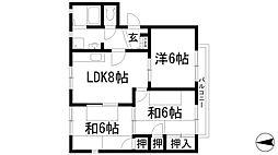 兵庫県川西市新田1丁目の賃貸マンションの間取り