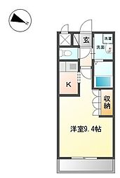 高松琴平電気鉄道琴平線 太田駅 徒歩34分の賃貸アパート 2階1Kの間取り