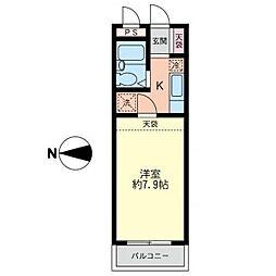パークサイド湘南台[1階]の間取り