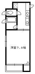 東京都中野区新井1丁目の賃貸アパートの間取り