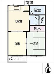 フォーブル西松山[2階]の間取り