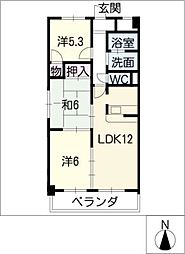 LONE STAR茶屋ヶ坂[3階]の間取り