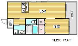 グレンパーク兵庫駅前[4階]の間取り