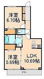 (仮)D-room西綾瀬[1階]の間取り