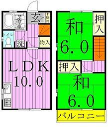 レジデンス・渋谷A棟[005号室]の間取り