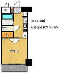プレサンス神戸プレシャス[5階]の間取り