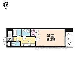 京阪本線 龍谷大前深草駅 徒歩6分の賃貸マンション 5階1Kの間取り