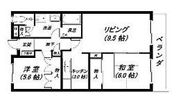 ルネスケンジュン[3階]の間取り