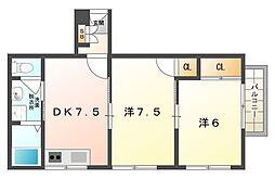 シティライフ林I[4階]の間取り
