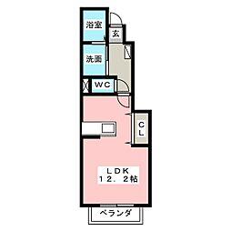 アポロUS 1階ワンルームの間取り