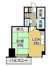 ライオンズマンション祇園[7階]の間取り