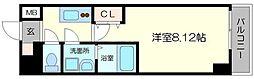 アート桜ノ宮 7階1Kの間取り