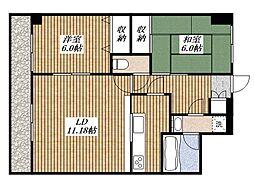 グランドヒルズ弐番館[3階]の間取り