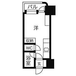 アンセリジェ壱番館[4階]の間取り