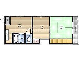 ハイツ濱2号館[2階]の間取り