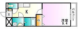 エスポワール壱番館[3階]の間取り