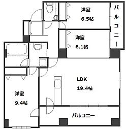 北海道札幌市中央区南六条西12丁目の賃貸マンションの間取り