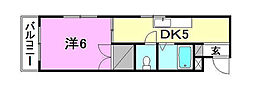 トミーハウス[403 号室号室]の間取り
