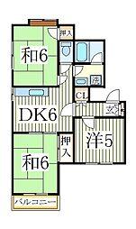 ファミールマンション[1階]の間取り